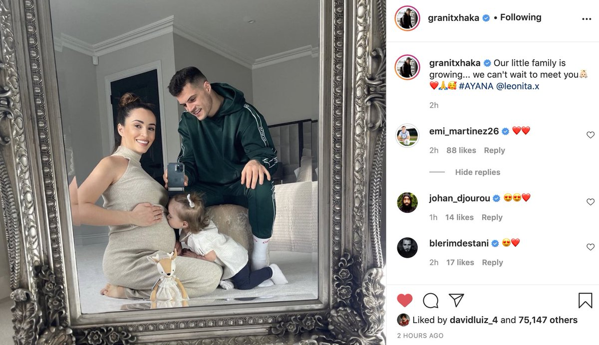 Congratulations, Granit - the Xhaka family is growing! ❤️