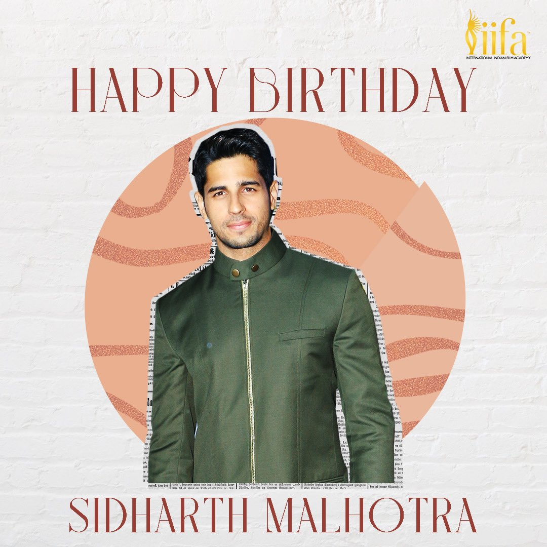 We wish the dashing #SidharthMalhotra a very Happy Birthday! 🎂  #HappyBirthdaySidharthMalhotra #IIFA #Bollywood