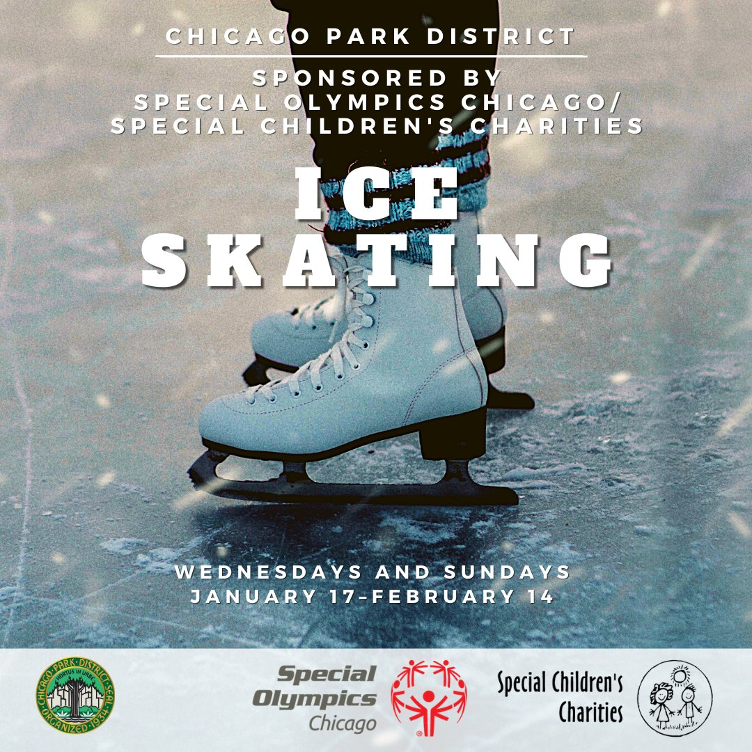 The Chicago Park District is offering ice skating opportunities for athletes and their families on Wednesdays and Sundays through February 14! Families must preregister, so check out the schedule and sign up today! https://t.co/I2UtIcqBhG https://t.co/GqMoeOzXF5
