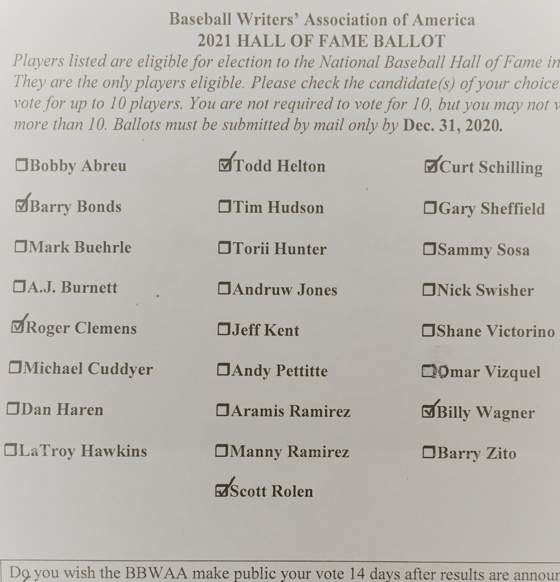 Some very, very difficult decisions... but, as always, an honor to take part in the process. @NotMrTibbs