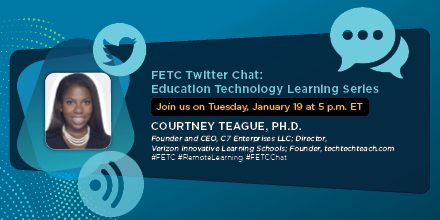 Don't miss the #FETC Twitter Chat: Education Technology Learning Series on 1/19 @ 5 pm ET. Add it to your calendar now: #RemoteLearning #FETCChat