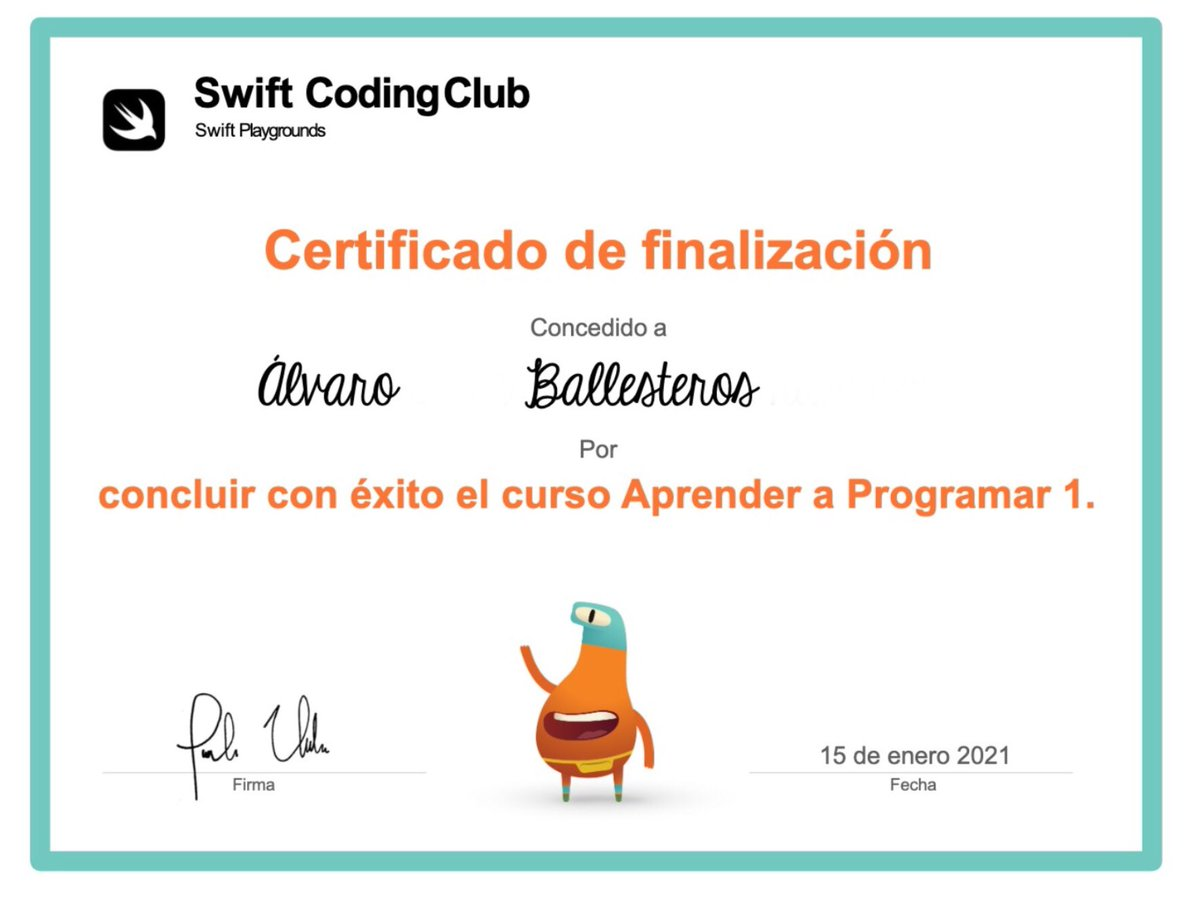 Our second ss who finished Learn to Code 1. 😎 @MexicoIngles @Knotion @AppleEDU #SwiftPlaygrounds #EveryoneCanCode #AppleTeacherMexico #AppleDistinguishedSchools #SomosKnotion #LearningFromHome #LearnToCode