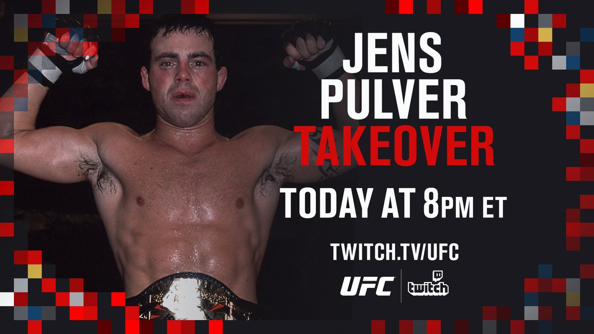 It's Friday and you know what that means 🙌  @Jens_Pulver takes over our Twitch tonight!  [ Tune in at 8pmET 📺  ]