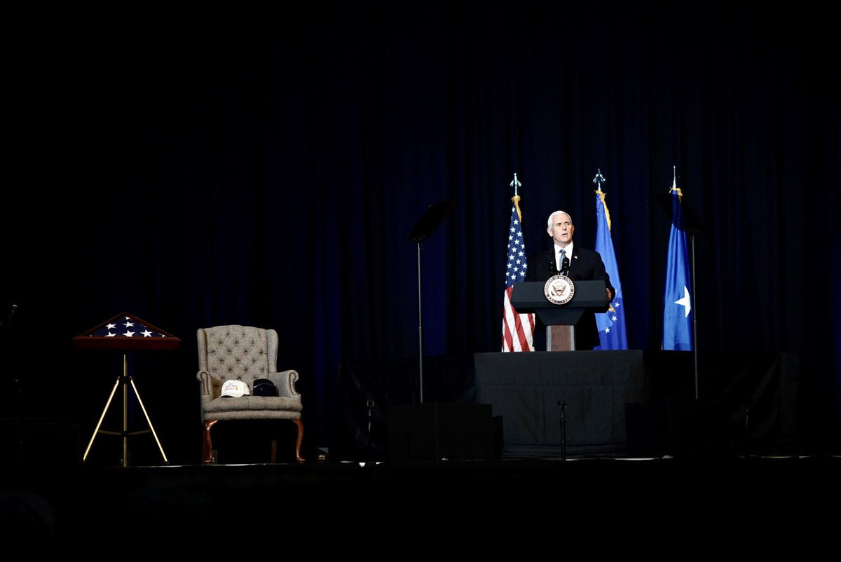 It was my honor to pay tribute to America's Greatest Aviator, General Chuck Yeager. Chuck lived a great American life, raising a wonderful family, serving in uniform for over 30 years & pushing the boundaries of what we considered possible. God Bless General Chuck Yeager.