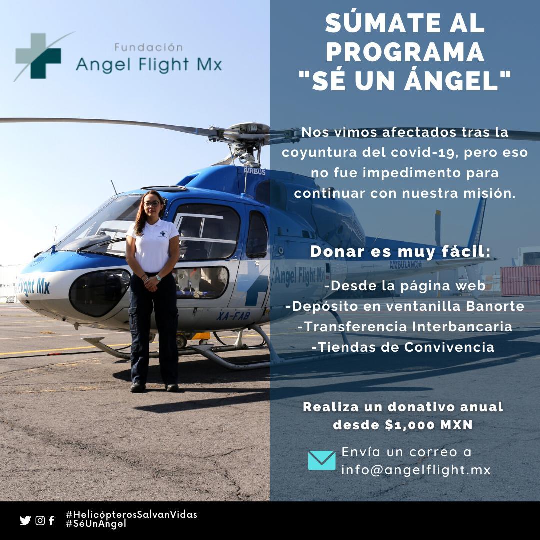Gracias a las personas que forman parte de la comunidad Ángel Flight México.  Te invitamos a formar parte de nuestro programa donando, ayúdanos a cumplir con nuestra función para salvar vidas de los sectores más vulnerables.   #SéUnÁngel #HelicópterosSalvanVidas  #Dona  #Cuídate
