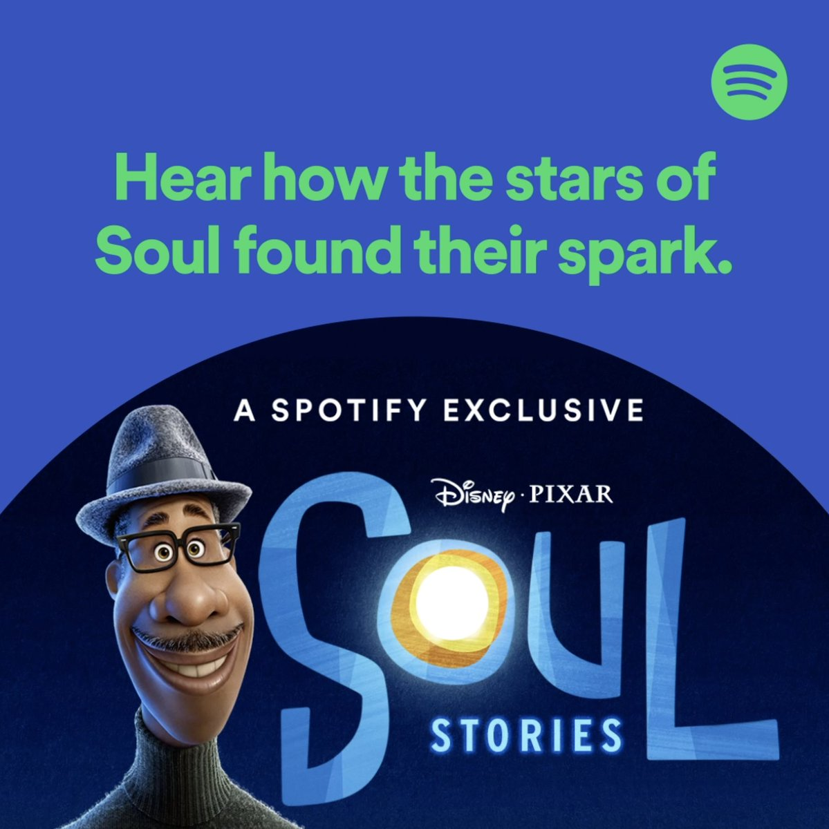 How did the stars of Soul find their ✨spark✨? Listen to the #SoulStories podcast now on @Spotify—and don't forget to stream #PixarSoul, only on #DisneyPlus.