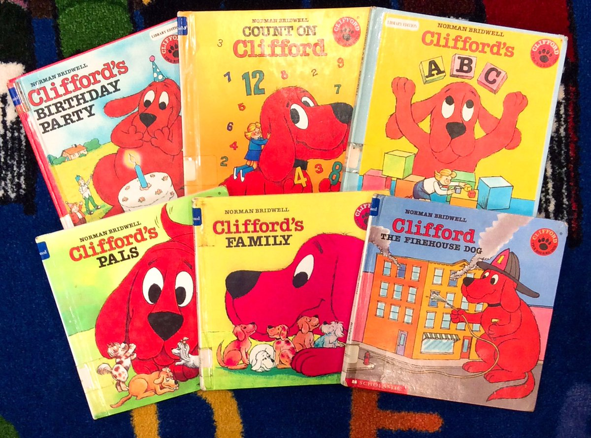 Did you know there's going to be a live-action movie about #Clifford?  Make sure you come check out the books before you see it! ❤️🐶❤️ #CliffordTheBigRedDog #NormanBridwell