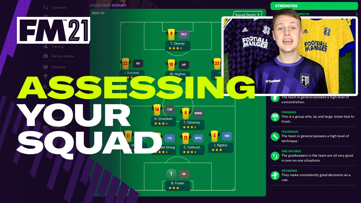 A beginner's guide to assessing your squad 🔍  How to identify important players, gaps in the team and the most suitable system to run with.  Watch now 👉