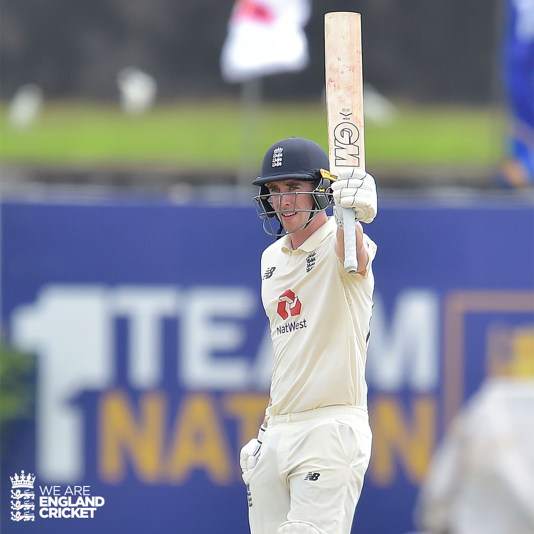 What a start to Test cricket for @DanLawrence288! 👊   #SLvENG