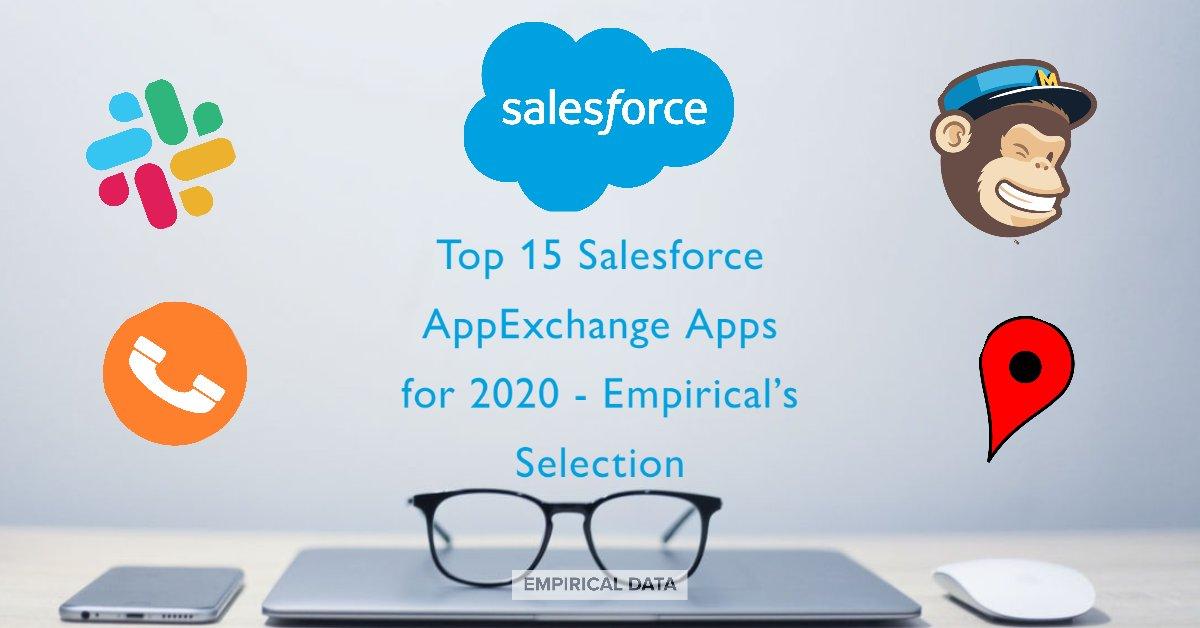 Top 15 Salesforce AppExchange Apps for 2020 - Empirical's Selection:     #SalesforceCRM #AppExchange #SlackIntegrations