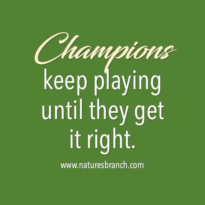 CHAMPIONS keep playing until they get it right 🏆  Let today be the start of making yourself better than before. Sooner or later, you'll be the champion of whatever you desire to achieve.   #motivation #fridaymotivation #friday #tgif #inspiration #champions #life #naturesbranch