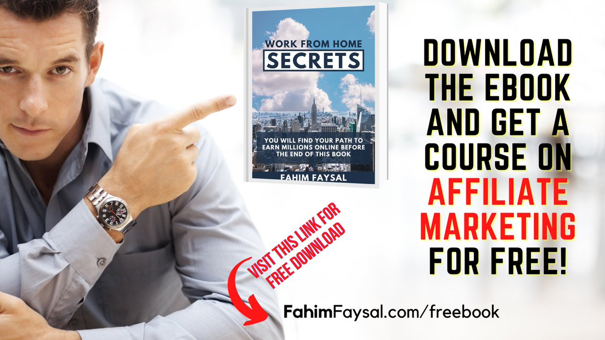 Work From Home Secrets (Pdf) Book is finally available!  Get a FREE course on #AffiliateMarketing!    #onlinebusiness #writingcommunity #FridayThoughts #workfromhome #FridayMotivation #businessgrowth #Freelancers #OnlineEntrepreneur #makemoneyonline