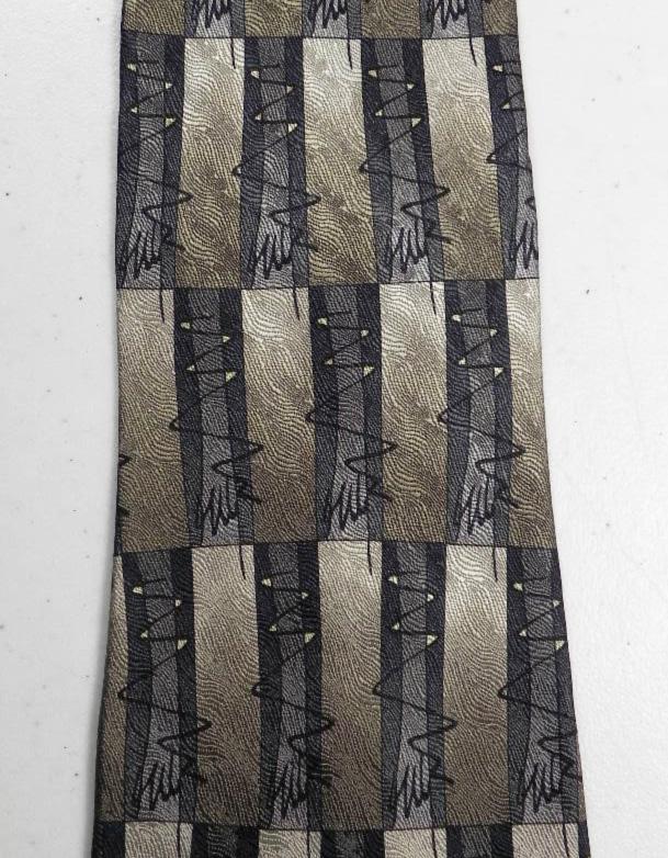 J GARCIA Paris in the Rain Collection Fifteen 15 Tie Necktie Green Grey Black  @eBay #shopsmall #mensfashion
