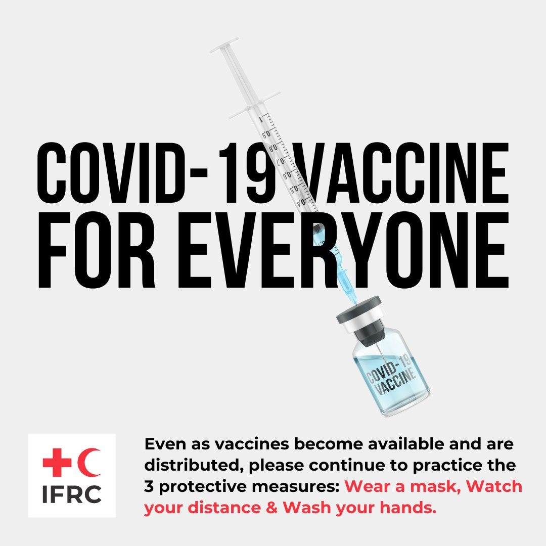 This year is about hope ❤  Covid-19 vaccine for everyone 💉 #Covid19