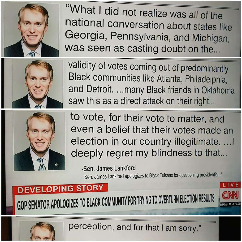 @jaketapper @tulsaworld @SenatorLankford #whiteprivilege Obvious why trump keeps lying defamed these areas as corrupt and discouraged people to postal vote + downplay #COVID19. If truely Sorry! you would tell the truth! #trumpLost  #NoVotingFraud  #BlackVotesMatter #TrumpIsALoser #StoptheLies #BidenWon