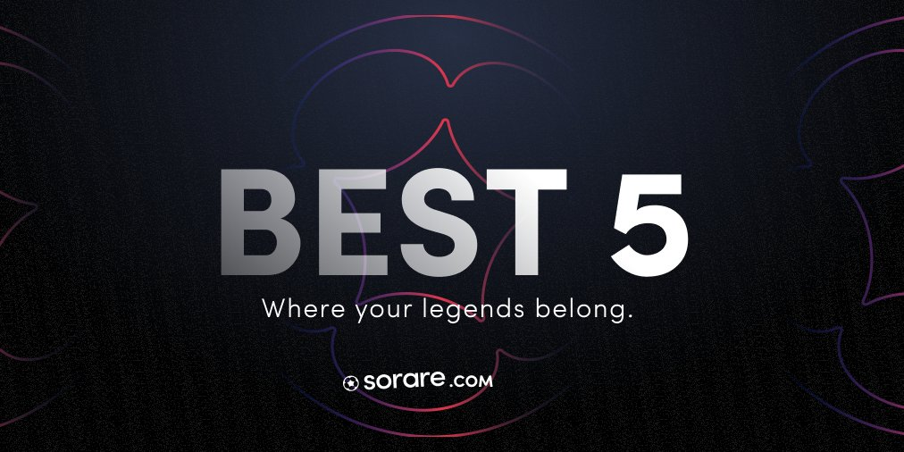 Introducing your Best 5! 🏆5⃣  Today we added a brand new feature to your gallery, Best 5. You can now celebrate and share your #Sorare club legends with the world!   Find out more about the feature here: