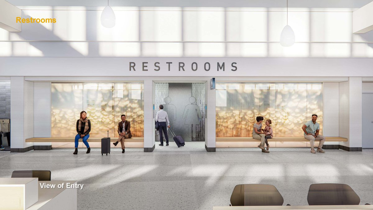 Celebrating the end of the week by sharing a rendering of our new and improved #LNK restrooms! To see more renderings visit NEXT.LincolnAirport.   #FlyLNK #FlyLocal #NEXTLNK