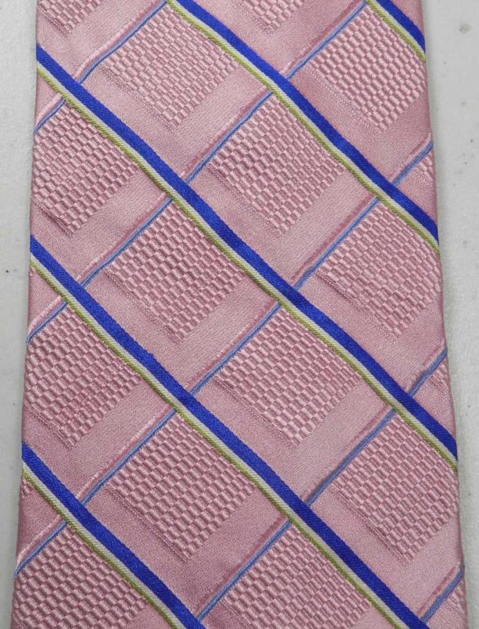 JOS A BANK Signature Stripe Plaid Silk Tie Necktie Pink Blue Green  @eBay #shopsmall #Mensfashion
