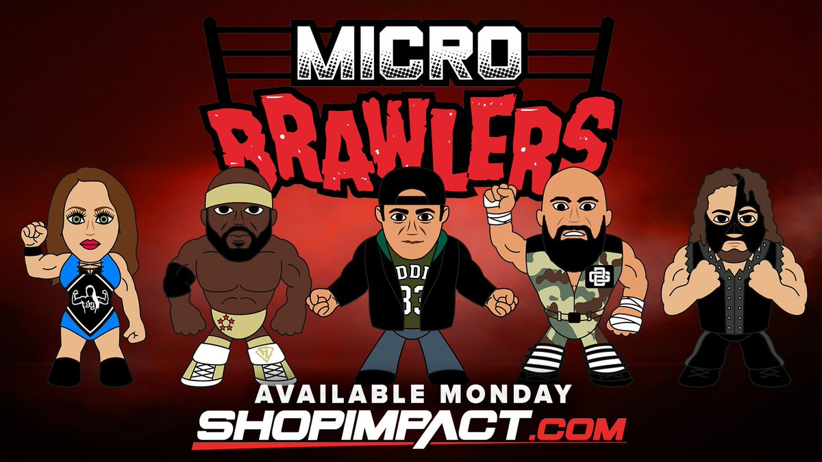 BREAKING: Micro Brawlers will go on sale on @shopimpactdeals THIS MONDAY at 10am ET!   Series 1 will include Jordynne Grace, Moose, Eddie Edwards and Doc Gallows  - a limited number of SIGNED brawlers will be available for these four as well - plus Abyss!