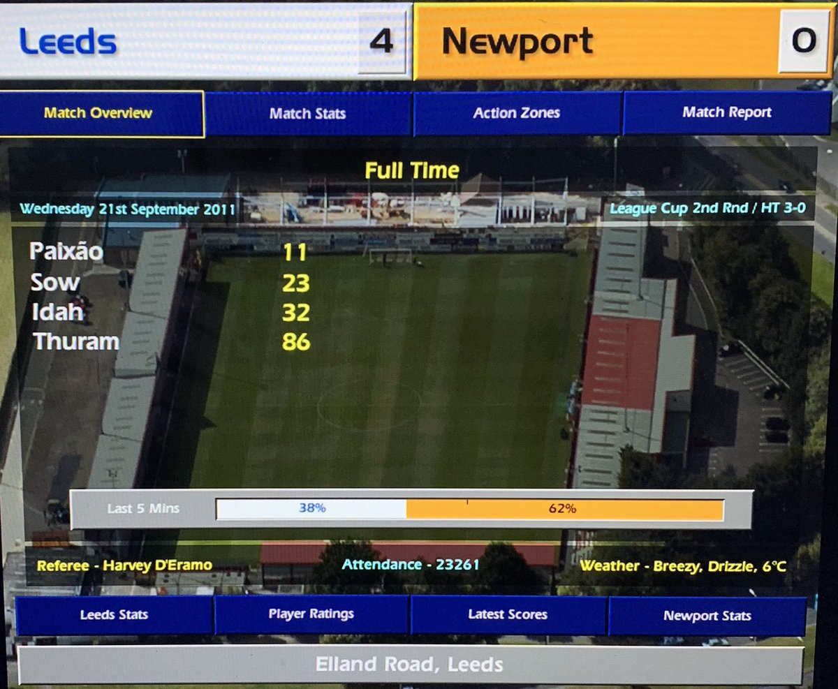 'We make 10 changes but beat Lg2 Newport comfortably. I invite their boss Stevie Crawford for a civilised glass of wine only for Tony Loughlan to burst in with an inflatable sheep shouting 'fancy this one ey Stevie!?' very unprofessional' @champman0102 #cm0102 #lufc #CarabaoCup