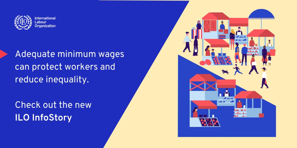 Did you know? More than 90% of ILO member States have a minimum wage.  Yet, an estimated 266 million workers around the world earn less than existing hourly minimum wages.  Find out more: