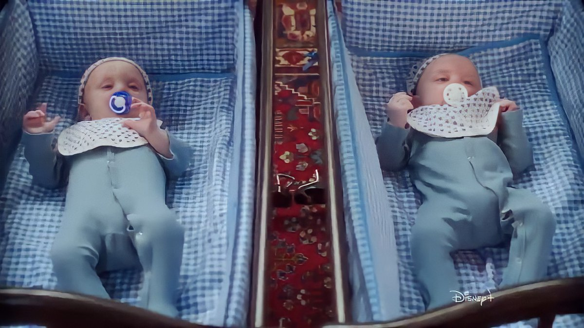 First close up look to baby Wiccan and baby Speed from #WandaVision.