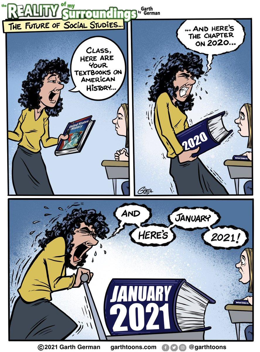 It's been quite a year. Already.   Building on a previous cartoon.   Follow for more cartoons! #2021meme #2021memes #whatayear #History #historyteacher #Historical #Teachers #TeacherLife #toomuchnews #comics #webcomics #webcomic #comicstrip #cartoon