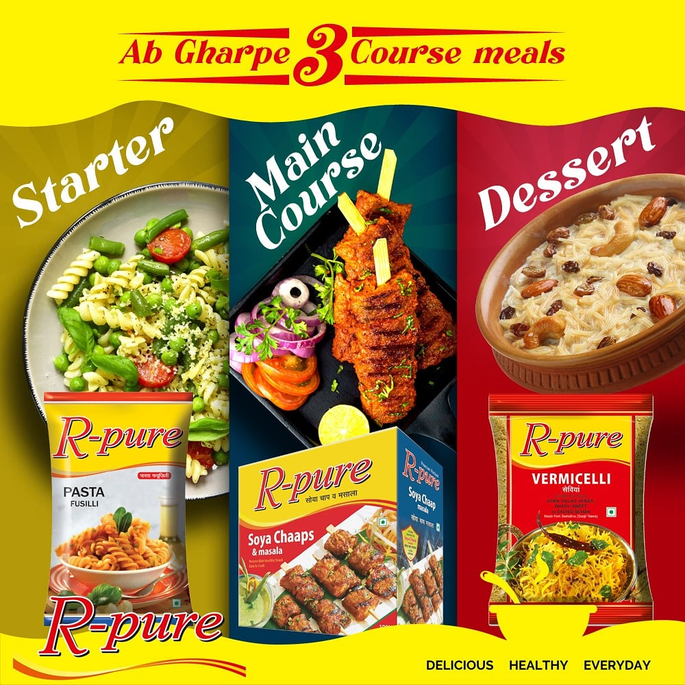Ab Restaurant Jaisa Menu Ghar ParMake your food more delicious with R-pure Delicious Products. . . #rpurespices #rpureproducts #rpuremasala #dinner #dessert  #starter #deliciousmenu #deliciousfood  #Cravings #FoodCravings https://t.co/jVtet2w3Mw