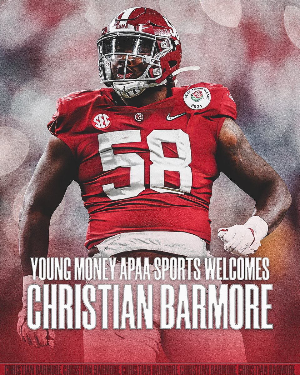 Welcome to the FAMILY! @Chris_Bmore4u   The 6-foot-5, 315-pounder showcased his worth all season on the defensive line. He sacked quarterbacks, put fear into the hearts of running backs, and brought a universal sense of energy and power to @alabamafbl   #YMAPAA #RollTide #NFL