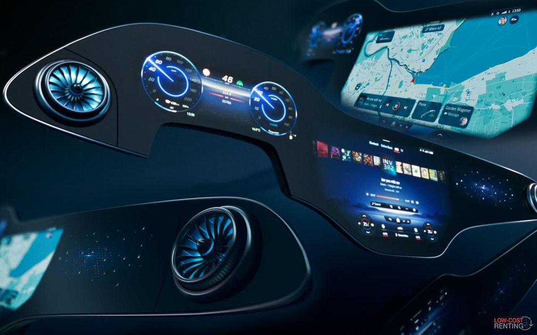 La nueva Hiperpantalla MBUX de @MBenzEspana : un paso más al futuro   Más info 👉  #MercedesBenz #futuro #future #coche #furgoneta #transporte #dgt #automobile #car #van #rental #article  #news #noticia #ULTIMAHORA