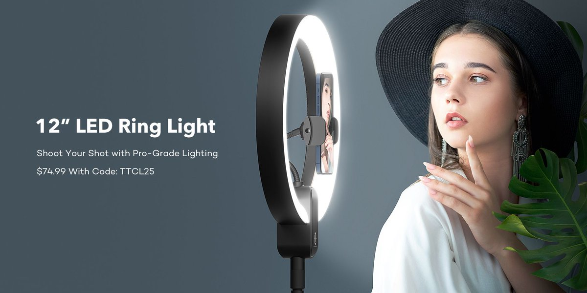 🔥 TaoTronics Special Sale! 🔥 $14 OFF our 12'' Ring Light with 78'' Tripod Stand! Only $74.99, down from $88.99!  Promo code: TTCL25 But hurry, grab now!  https://t.co/H5HqRkp3zc https://t.co/CmHsywfZJG