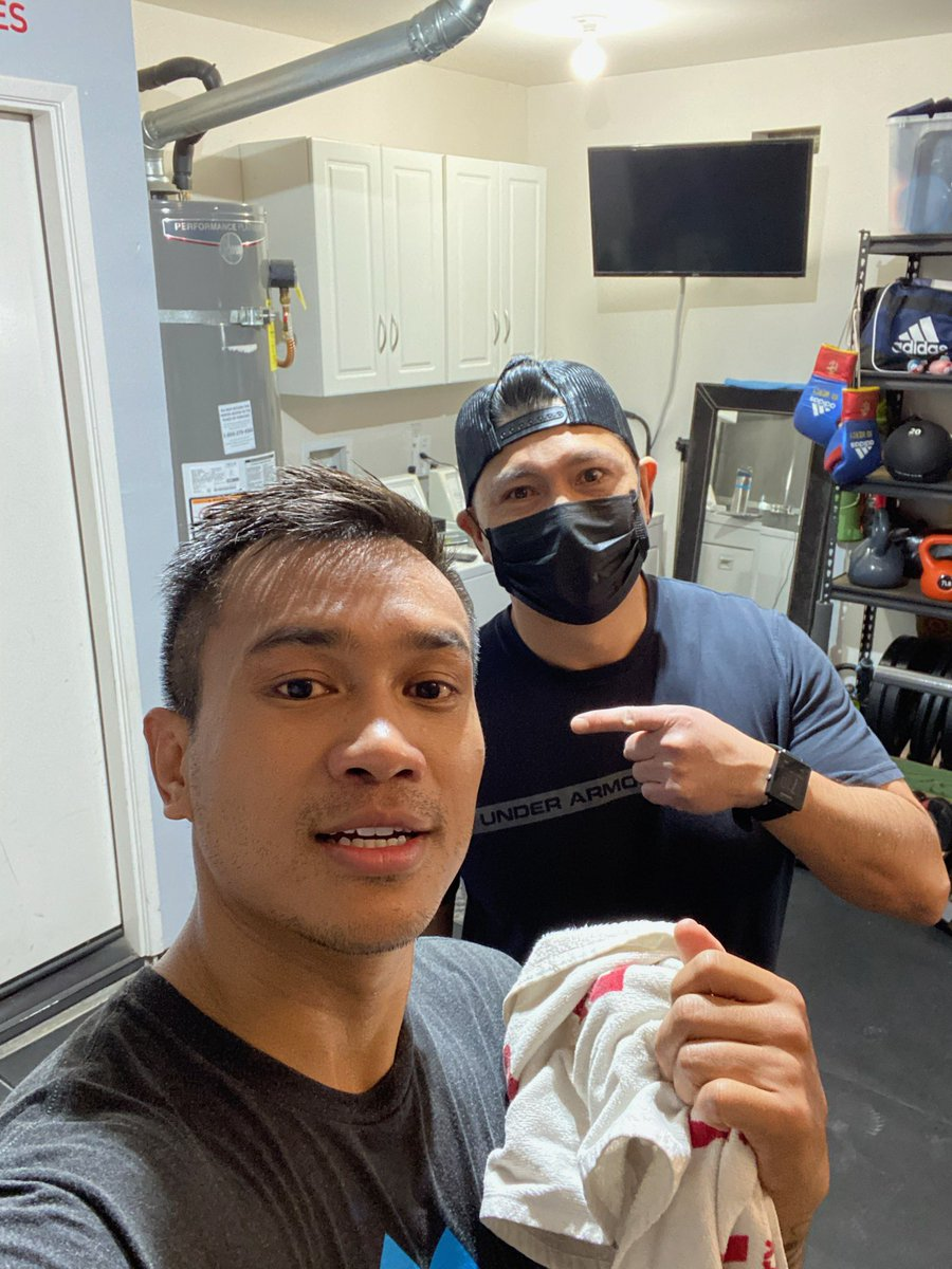 Friday morning grind with my Strength Coach Glen Beato!  Have a blessed day and take one min to say I love you to your love ones.  #ReadyForSport #StayingReady #AdidasBoxing #GoldenBoyBoxing #ThisIsForObie  @GoldenBoyBoxing @WildCardBoxing1  @mrboxingguru @adidas @chrisdessalles