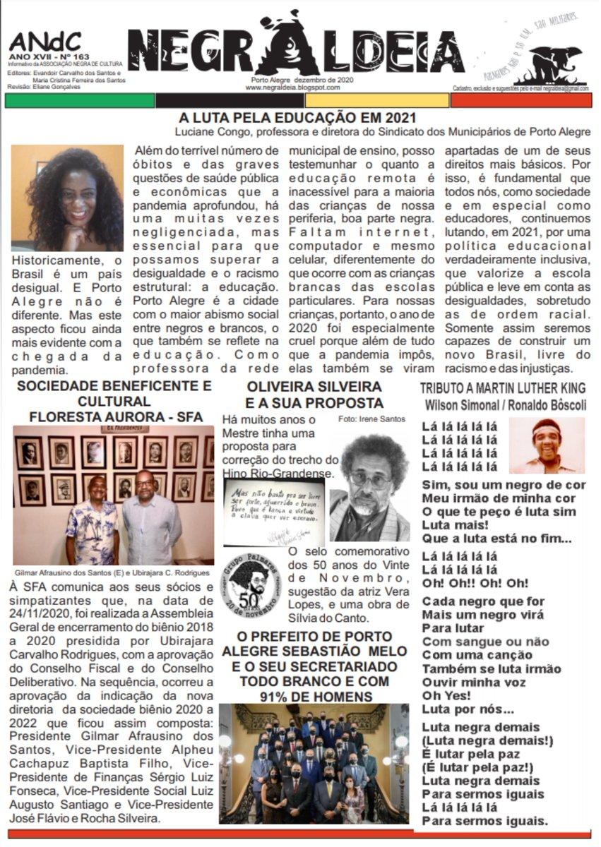 Profª e diretora do #Simpa aponta a mobilização contra a desigualdade racial e social como desafio na luta pela educação em 2021. Leia o artigo no Informativo Negra Aldeia.  #Educação #VidasNegrasImportam #VacinaJá #ServiçoPúblicoSalvaVidas
