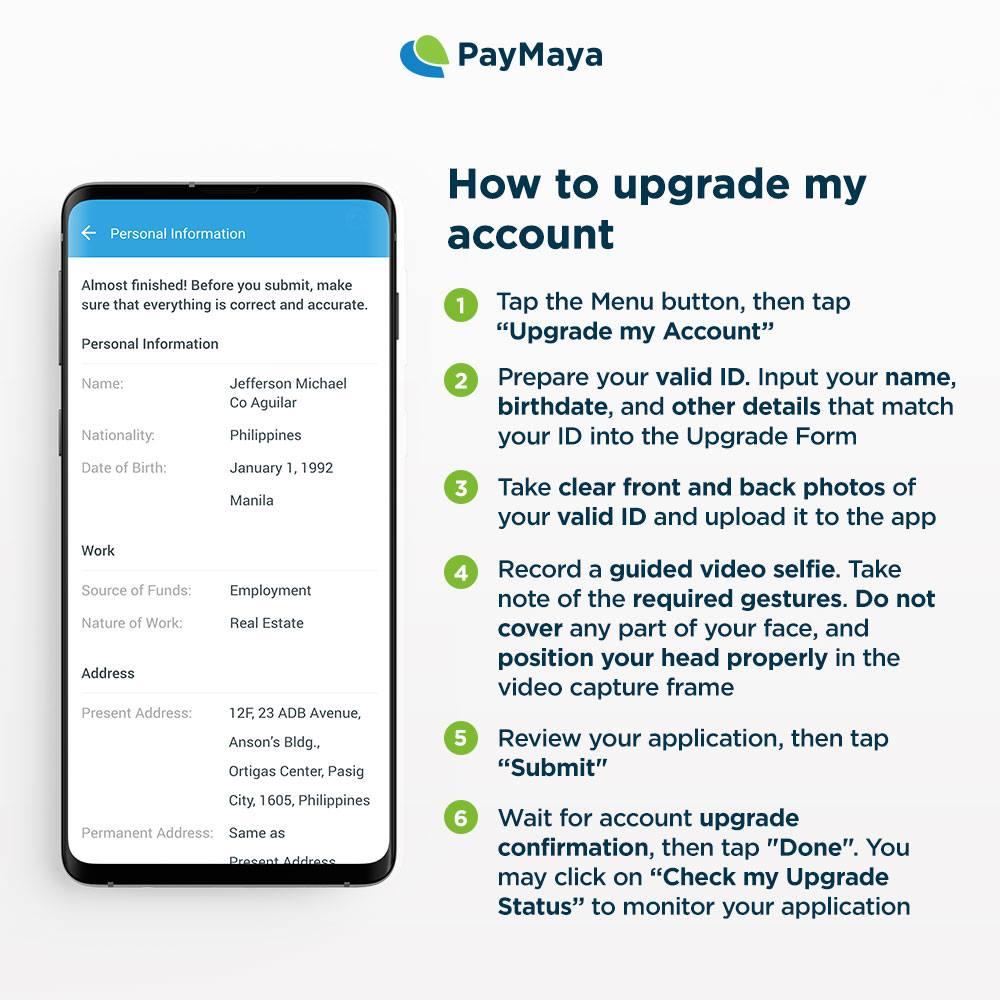 Nakapag-upgrade ka na ba ng PayMaya account mo? RT this kung YES, like this kung NO.   Here's how: !💚