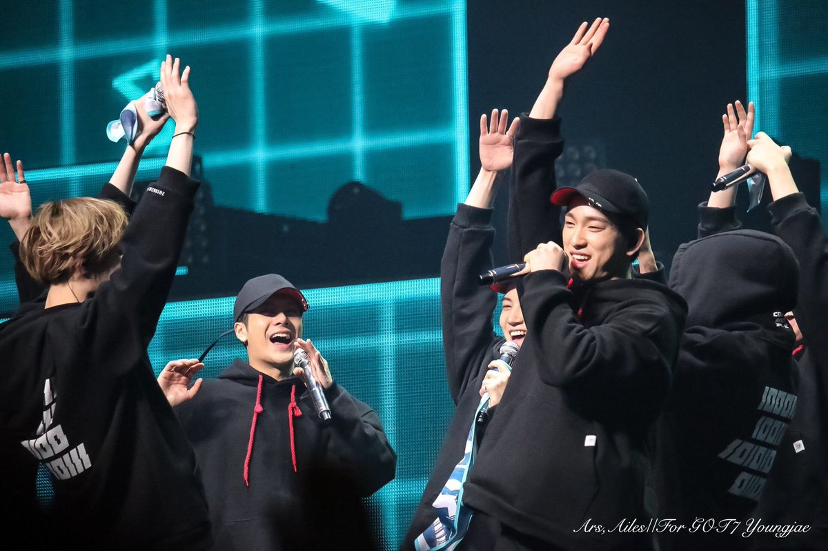 @jackysonwang852 @GOT7Official Please continue to make cool performances together, ahgase will always rooting for you guys! GOT7 JJAI!💚💚💚 #GOT7FOREVER #7YearsWithGOT7 #갓세븐_7주년_고마워