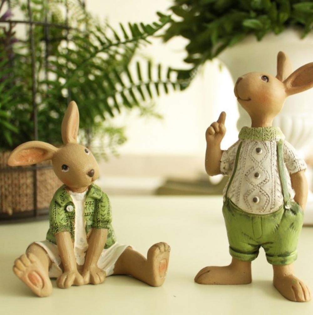 Rabbit Family Decorative Figurine #food #tflers