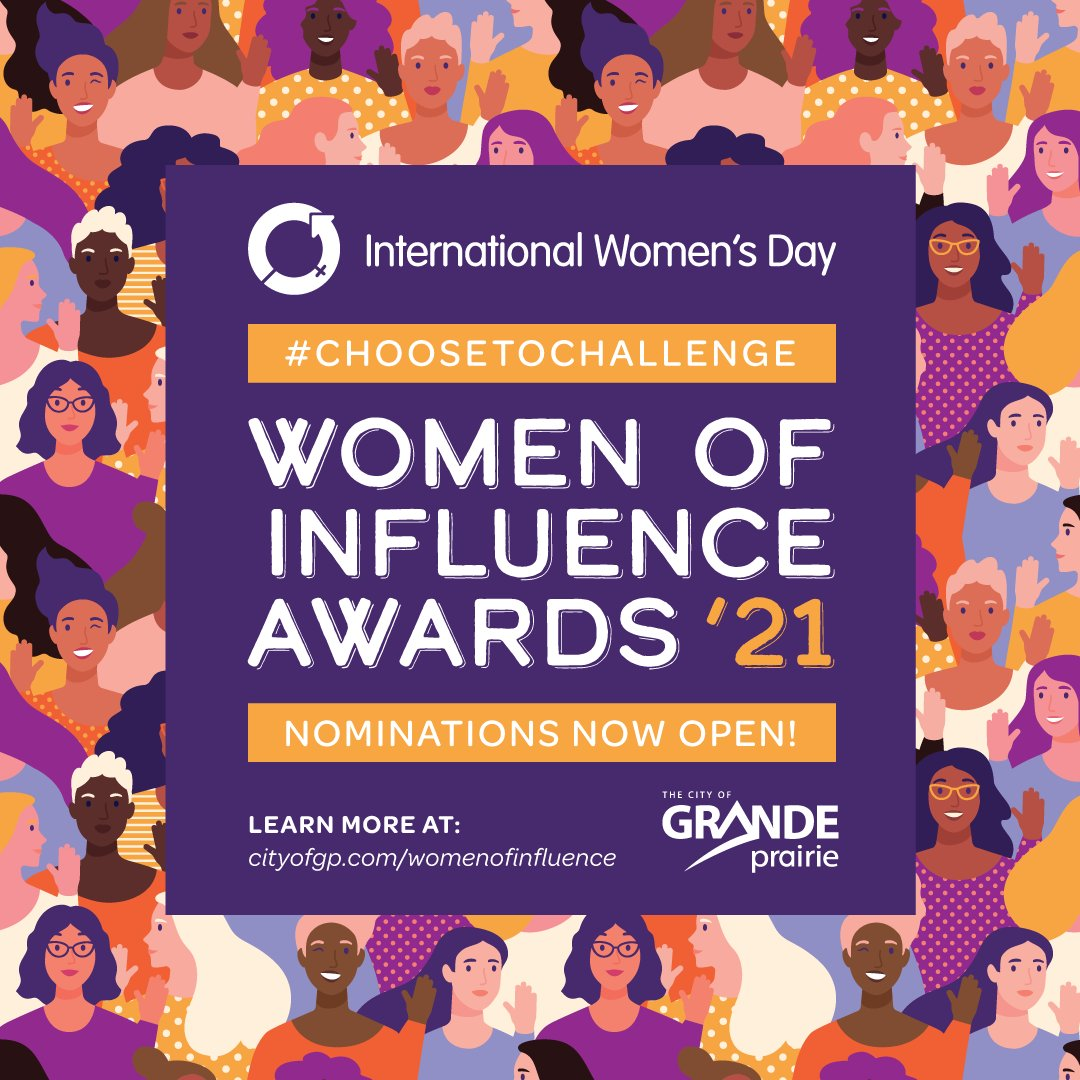 Nominations Now Open for 2021 Women of Influence Awards - We all know at least one woman (or more) who exemplify being a women of influence in our communities.  Nominate here -    #choosetochallenge #internationalwomensday #womenofinfluence
