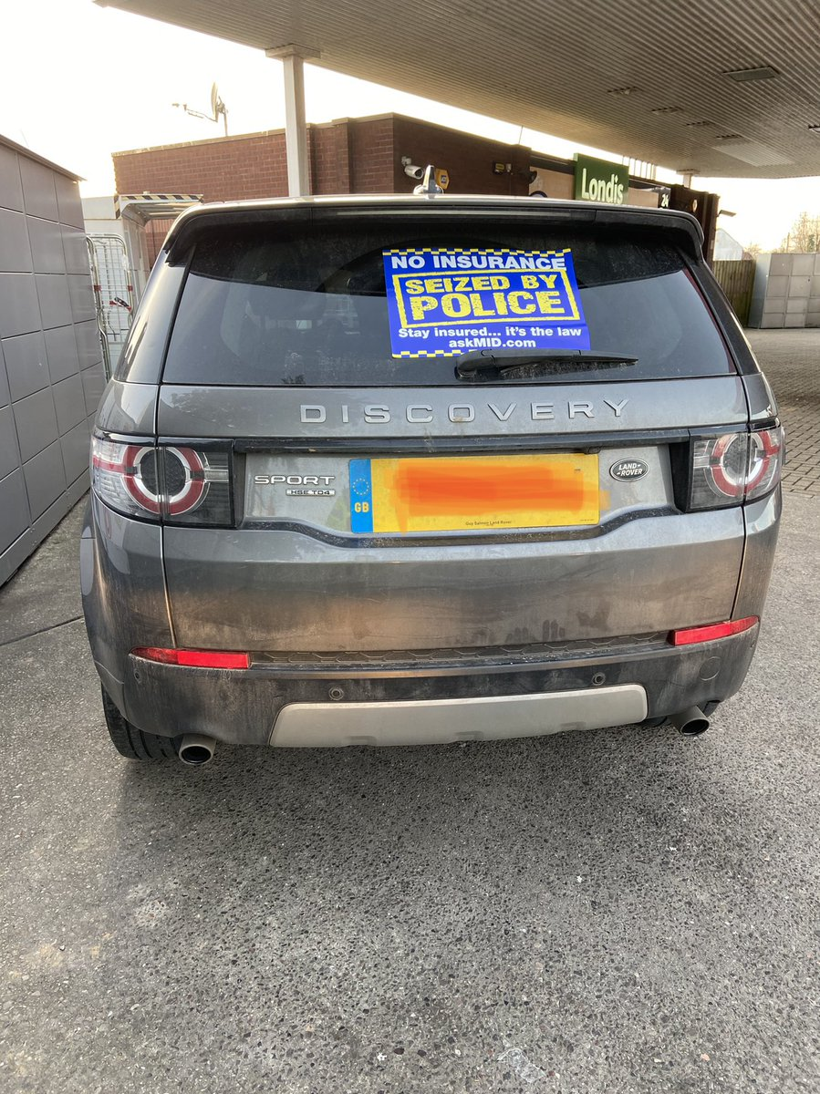 It's very important to make sure your vehicle has a current MOT, and insurance. It should also be taxed. Sadly this one wasn't, vehicle seized and driver reported for offences. #SRSU #5940 #4011 #noinsurance  Check your insurance please