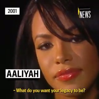 """""""I want people to see me as an entertainer, someone who can do it all.""""  Aaliyah spoke to @MTVNews in 2001 about what she wanted for her legacy. ❤️"""