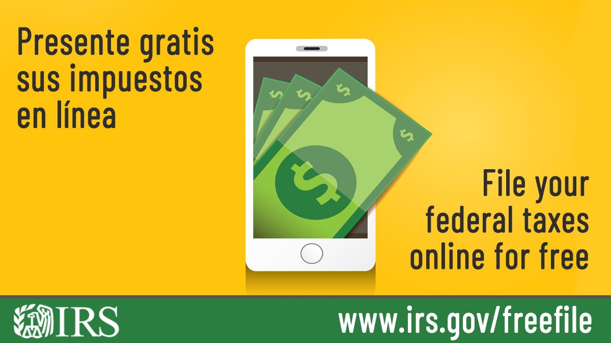 #IRS Free File lets you prepare and file your federal income tax online for free.  It's safe, easy and no cost to you.