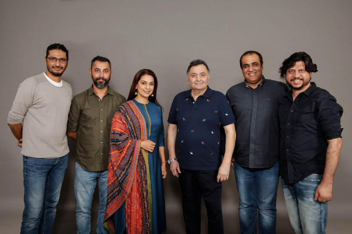 #PareshRawal to complete the pending portions of late actor #RishiKapoor in #SharmajiNamkeen co-stars #JuhiChawla. Directed by Hitesh Bhatia, produced by Excel Entertainment in association with MacGuffin Pictures. 4 Sept 2021 release on Rishi Kapoor's birth anniversary.