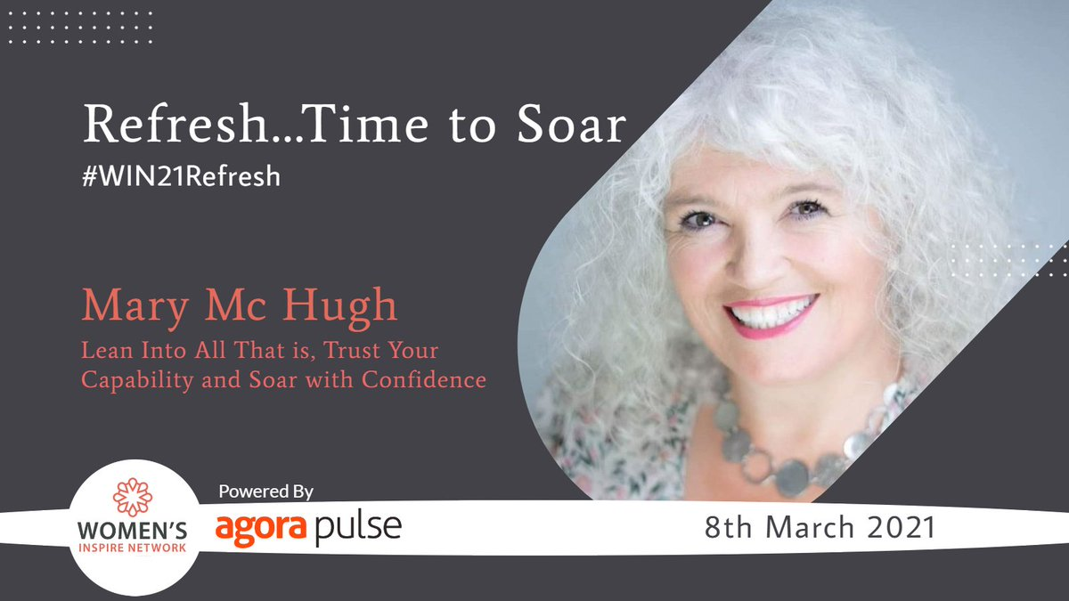 Really looking forward to hearing Mary Mc Hugh from @Counselling_IE talking all about trusting your capabilities and confidence - Book your ticket for @WomensInspireIE  #Win21Refresh now