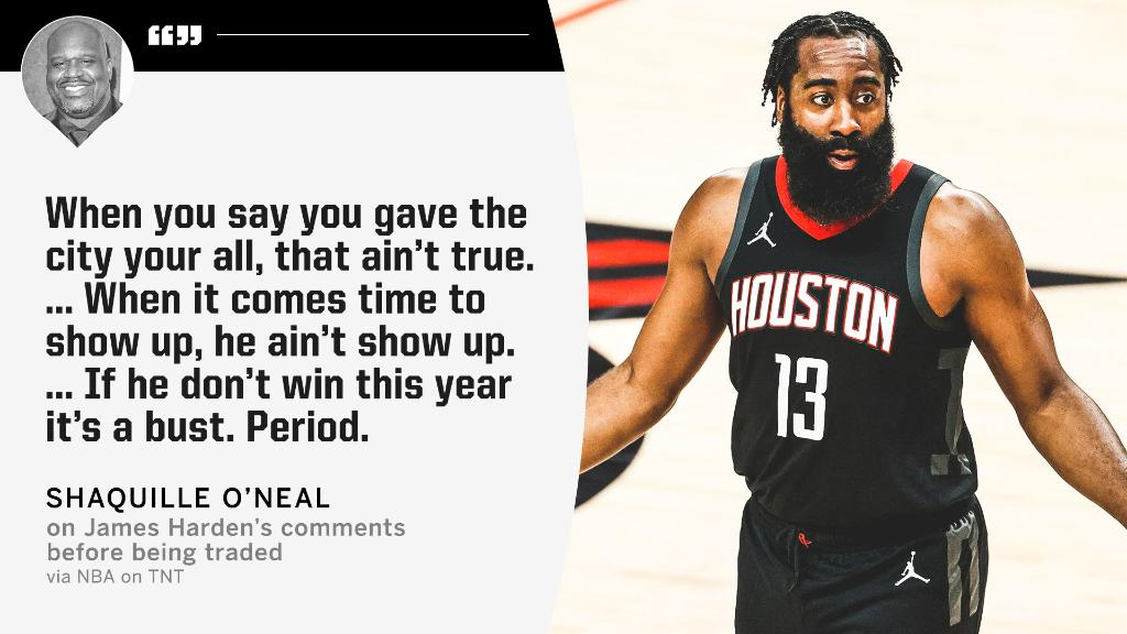RT @SportsCenter: Shaq isn't buying James Harden saying he did everything he could in Houston. https://t.co/rn0lRR46bT