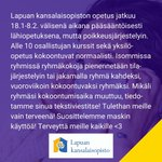 Image for the Tweet beginning: #lapuankansalaisopisto #kansalaisopisto #lapua