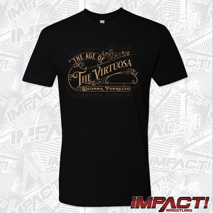 "Welcome to the ""Age of The Virtuosa"" 👁  My FIRST @IMPACTWRESTLING T-Shirt! AVAILABLE NOW!"