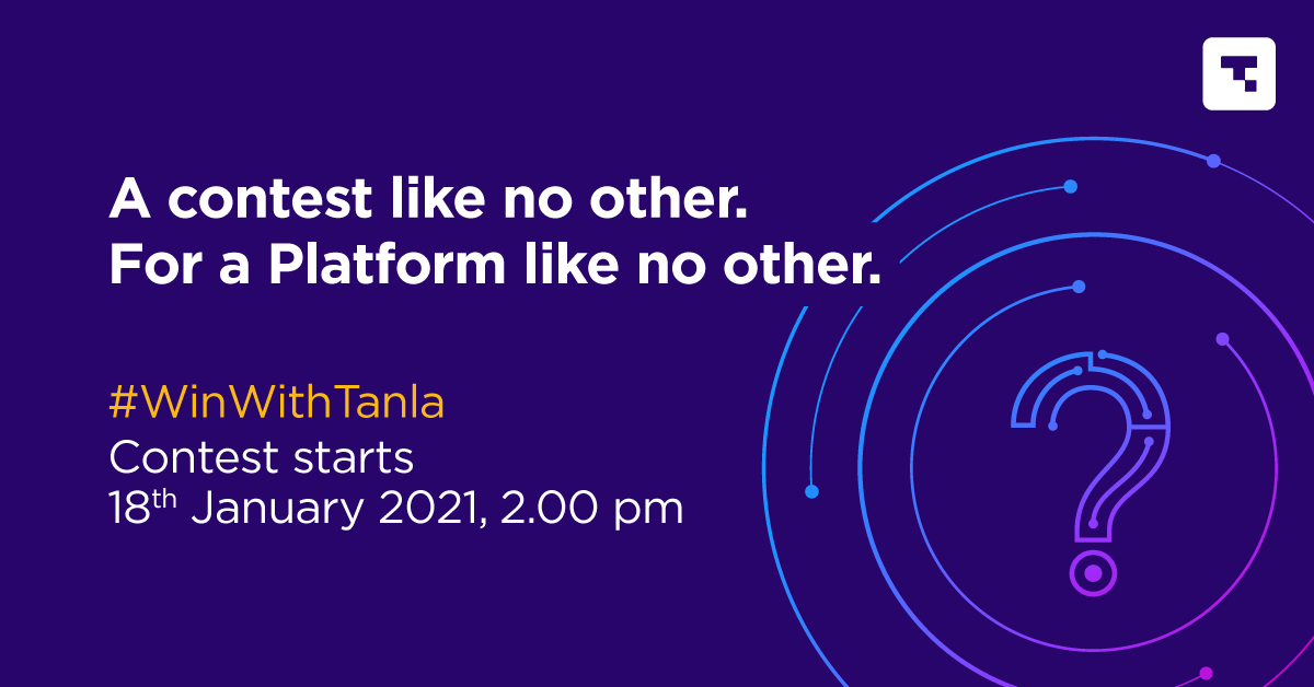 There's more to gain from the launch of the product that will transform #CPaaS. Guess the name of the product and #WinWithTanla #MicrosoftIndia. Laptops and Amazon Gift Vouchers to be won! #Tanla #ContestAlert