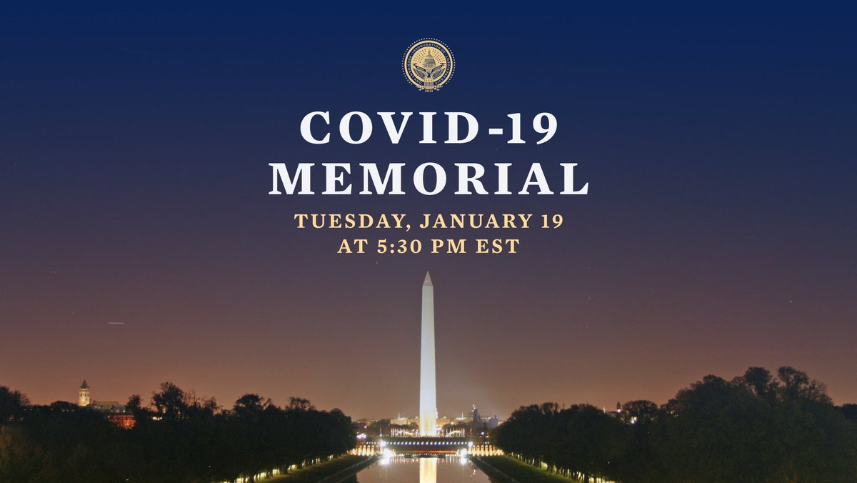 This Tuesday, January 19 we are bringing Americans together to honor the lives lost to COVID-19.  Light a candle in your window for our nationwide moment of remembrance.