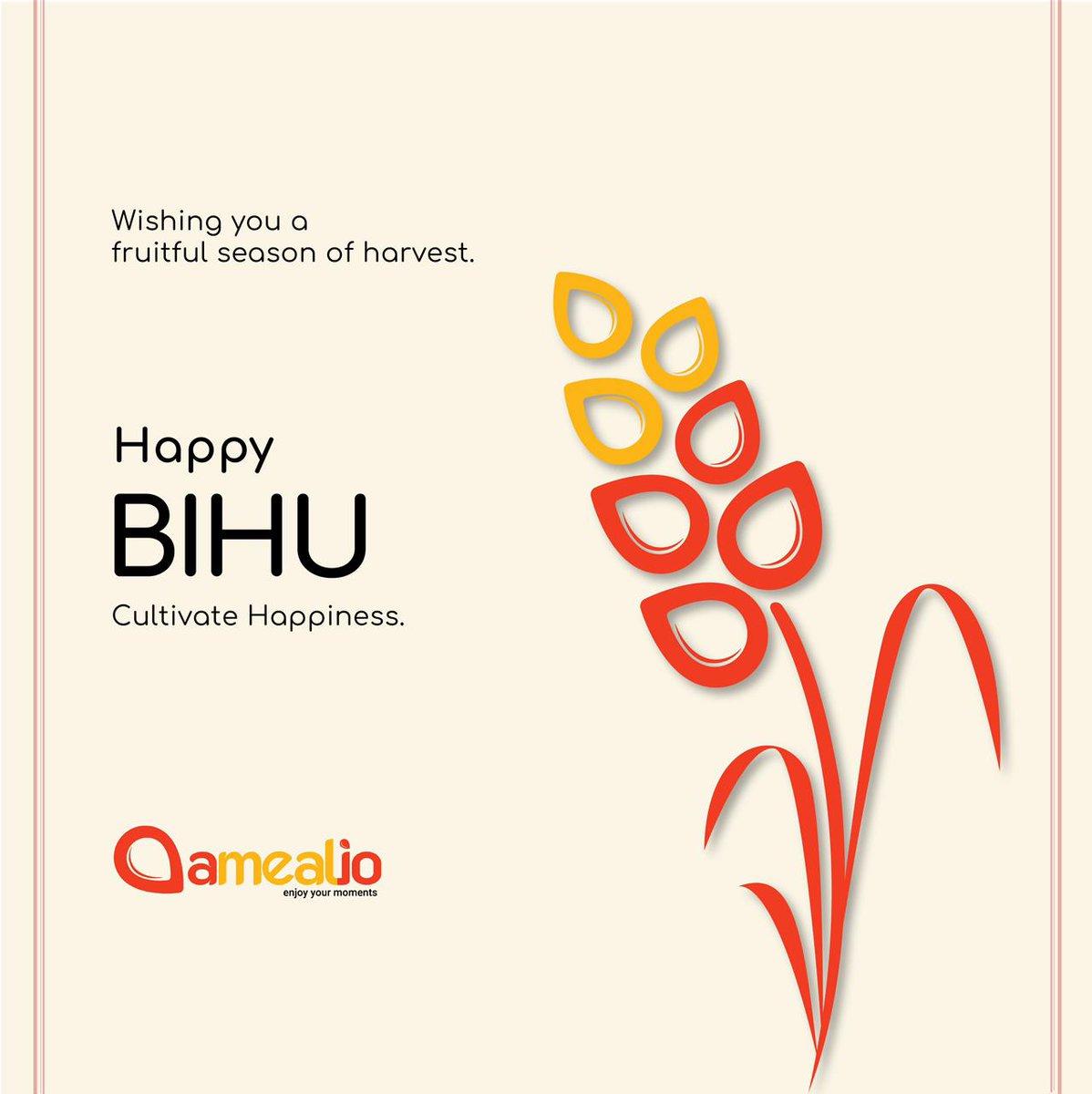 Warm wishes on occasion of Bihu festival 🌾😊   #amealio #contactless #dinning #experience #bihu #festival #festivevibes #festiveseason #celebration #enjoyment #spreadinghappiness #spreadingsmiles #joy