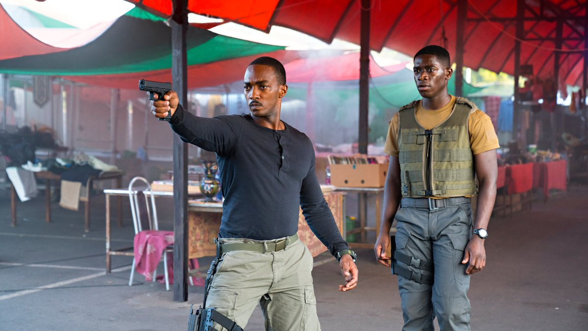They're humanity's best hope for survival.   Anthony Mackie and Damson Idris star in Outside The Wire — now on Netflix