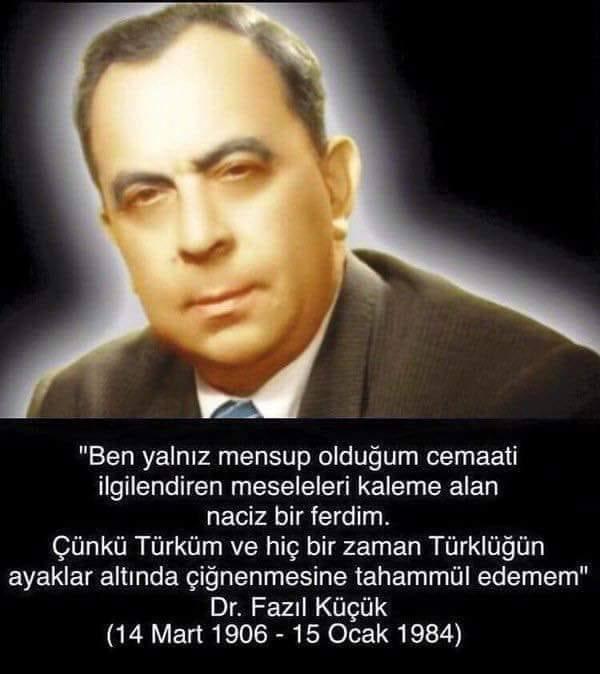 Kıbrıs Türk Davasının  yiğit neferlerinden ve Cumhurbaşkanımız Rauf Denktaş ile birlikte iki büyük önderinden Dr. Fazıl Küçük'ü saygı, minnet, şükran ve sevgiyle anıyorum. Işıklar içinde yat yiğit Türk! Sefa Yürükel https://t.co/iBLdKYCFg9
